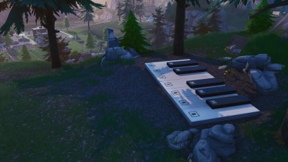 Piano And Sheet Music Location in Pleasant Park