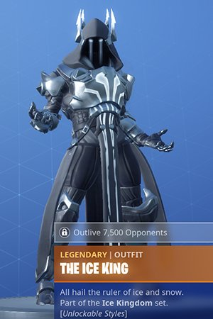 Fortnite, THE ICE KING - Skin Review: Challenge Leveling & Rewards