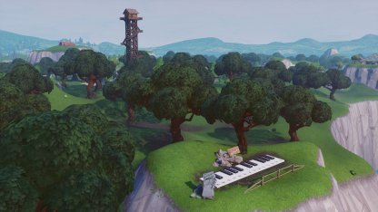 Piano And Sheet Music Location in Lonely Lodge